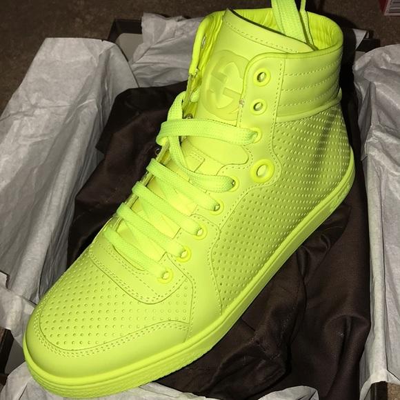 Gucci Shoes | Gucci Neon Matte High Top